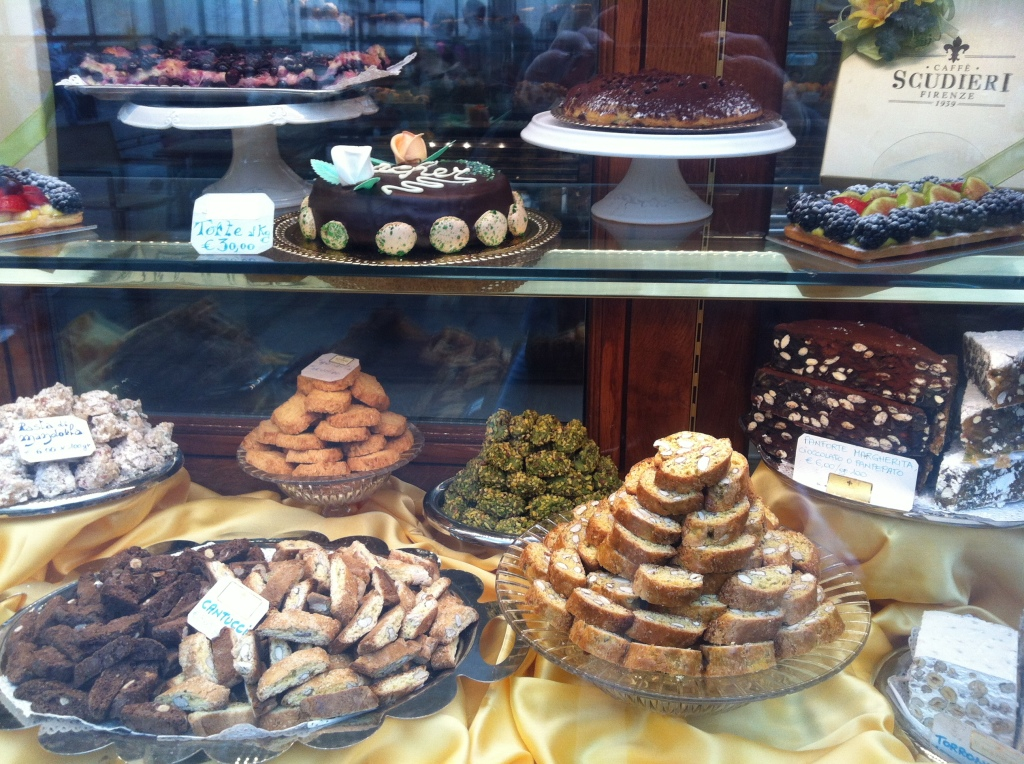 The cakes at Scudieri. Damnation never looked so delicious.