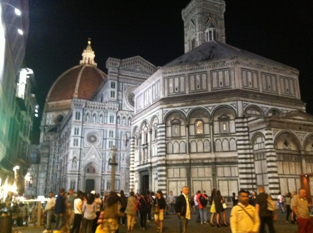 The Duomo of Florence by night.