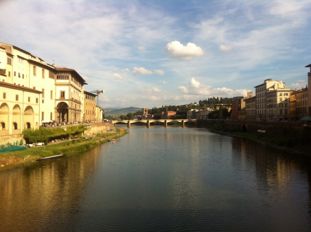 The view from Ponte Vecchio. Picture Perfect.