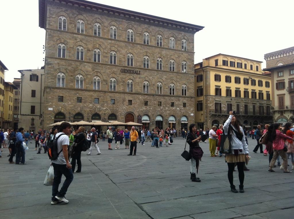 Where Savonarola was burned as a heretic.