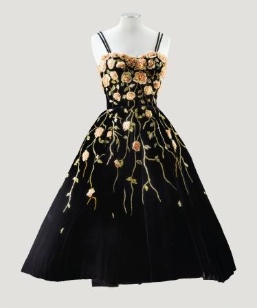 A Balmain haute couture cocktail dress, 1953